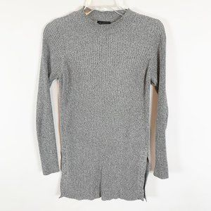 TOPSHOP Grey Long Sleeve Tunic Sweater Size 6